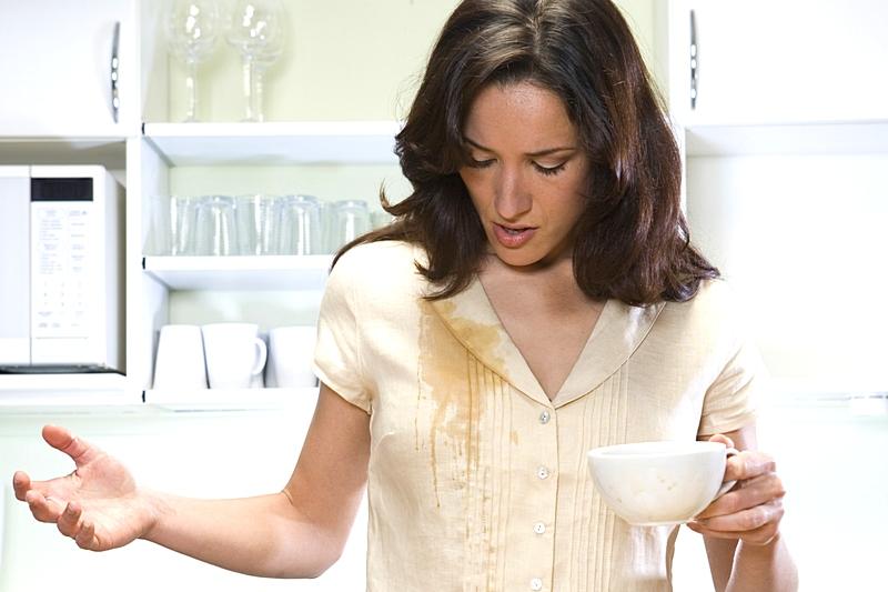 вывести пятно от кофе