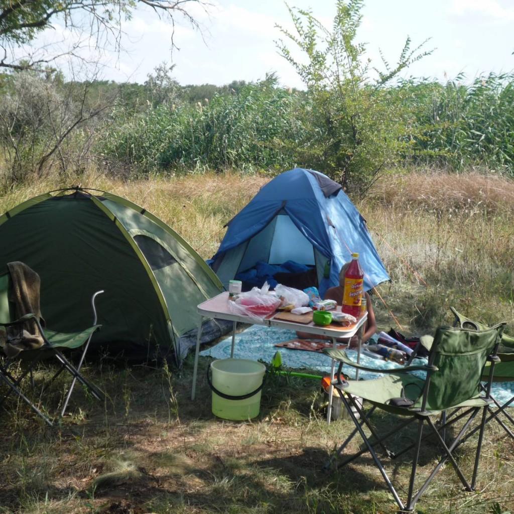 рыбалка на Волге с палатками