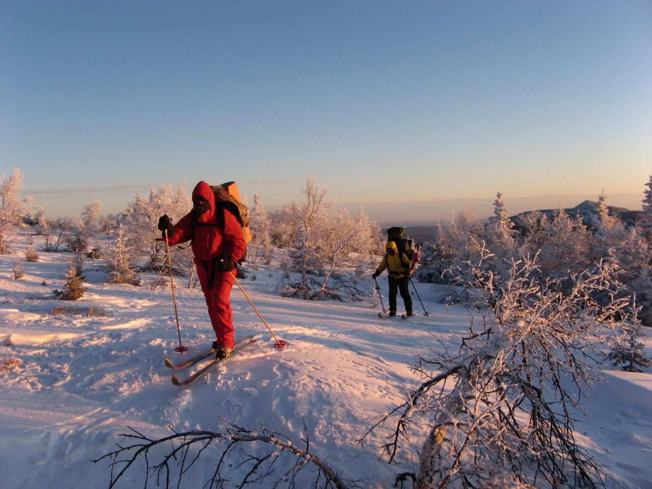 поход в горы на лыжах