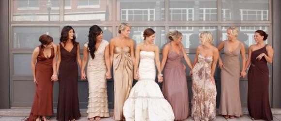 платья подружек на свадьбу