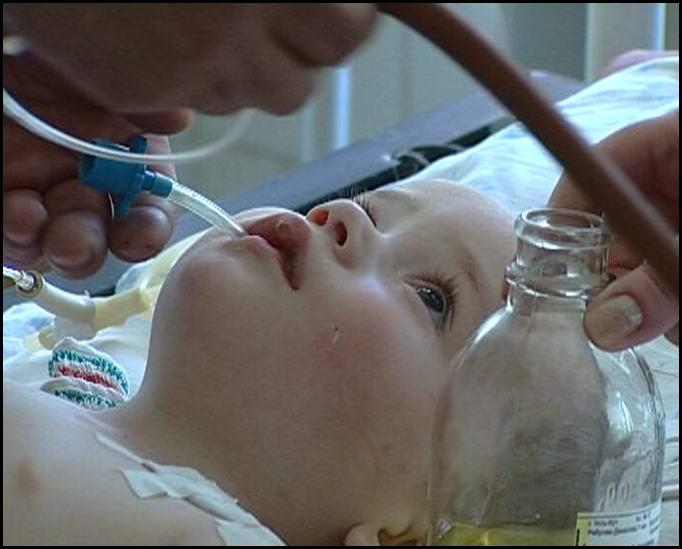 ребенок в больнице после отравления