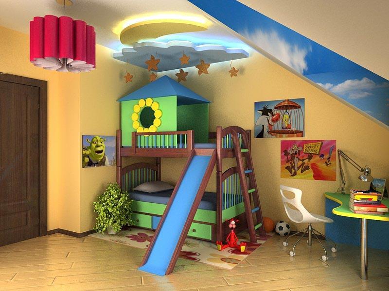 детская комната с горкой