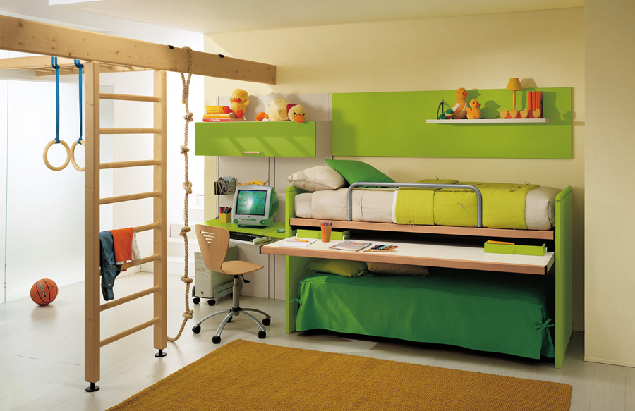 детская комната с лестницей