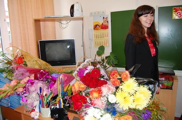 цветы учителям
