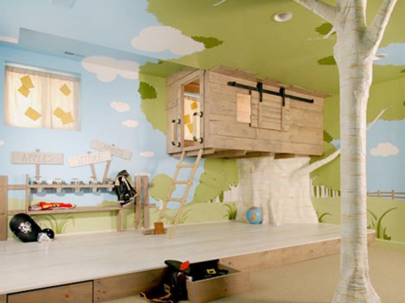 подвесной домик в детской