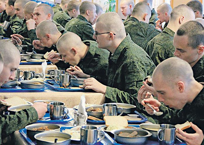 дают есть в армии