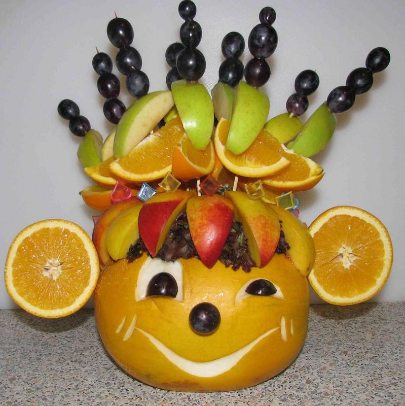 обезьянка из фруктов