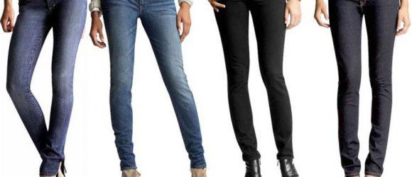 много девушек в джинсах