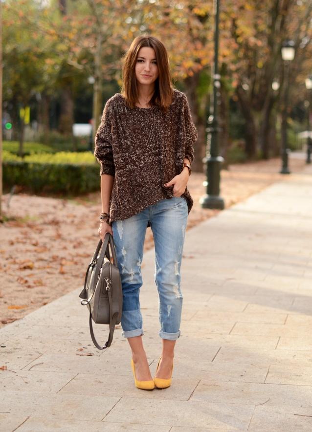 джинсы с подворотами