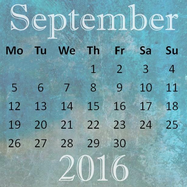 календарь сентябрь 2016